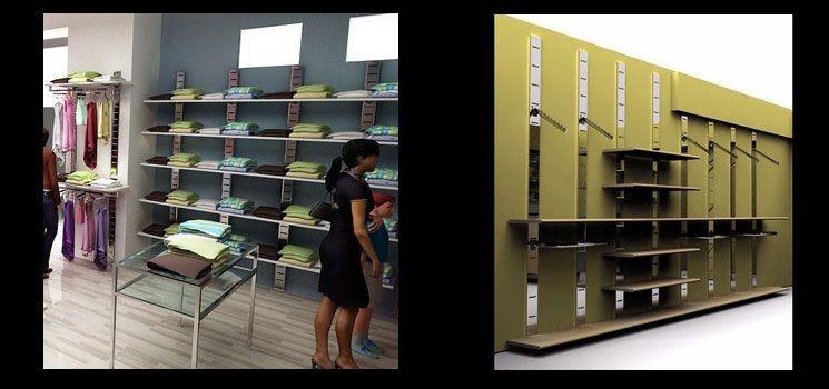Sistema di arredo colonna dogata for L arreda negozi